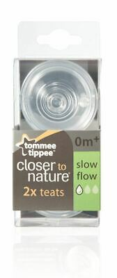 Tommee Tippee Closer to Nature 2x Teats 0m+ Slow Flow - Brand New Sealed