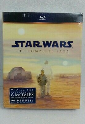 Star Wars The Complete Saga - Original & Prequel Trilogy 9 Blu-Ray Disc Box Set