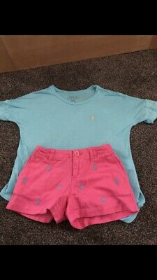Ralph Lauren Shorts And Top Age 5-6