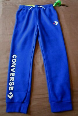 BNWT Boys CONVERSE Blue Tracksuit Bottoms Joggers SPORTS SIZE 13-15 YEARS IDEAL