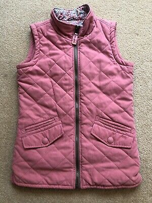 Joules 'Little Joule' Girls Quilted Gilet Bodywarmer Age 11-12 Yrs Pink
