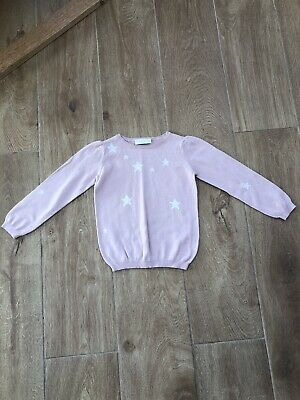 Gorgeous Girls LITTLE WHITE COMPANY Pink Star Jumper Age 4-5 VGUC