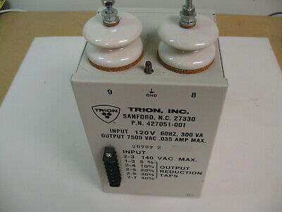 High voltage transformer 7500 V 300VA with primary taps