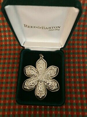 """Reed & Barton Sterling Silver Ornament Francis I """"1st Edition"""" Snowflake"""