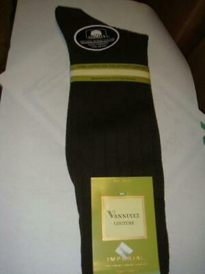 Vannucci Courute Socks Hose Mens 10 - 13 Olive Green Cotton Nylon