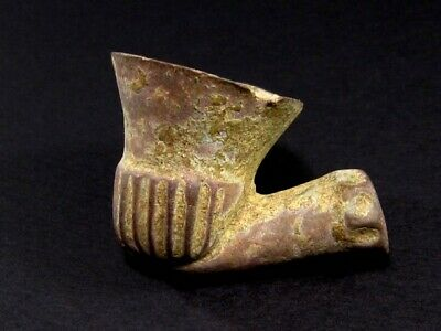CHOICE ANTIQUE 1600 – 1700s. BRONZE SMOKING PIPE, AS FOUND+++