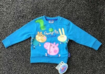 Mothercare Baby Boys George Peppa Pig Top Age 9-12 Months New With Tags