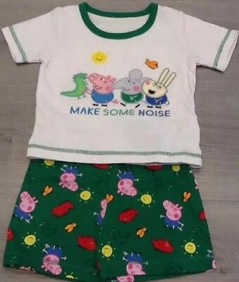 Mothercare Peppa George Pig Dinosaur Baby Pyjamas New With Tags Size 6-9 Months