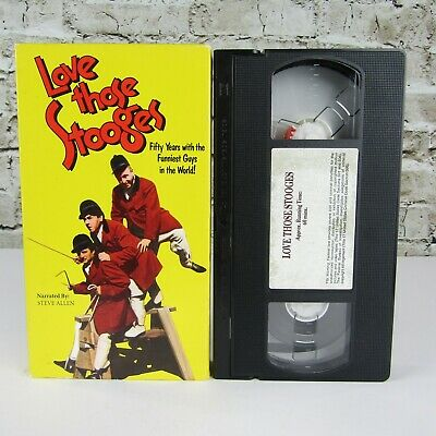 Love Those Stooges: Fifty Years with The Funniest Guys in the World (VHS, 1993)