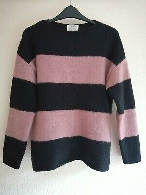 Zara Girls Black and Pink Striped Jumper Age 11-12 years old