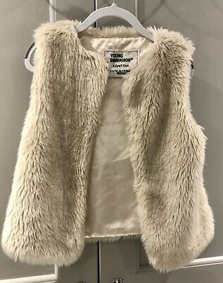 Lovely Cream Faux Fur Girls Gilet 4-5 Years