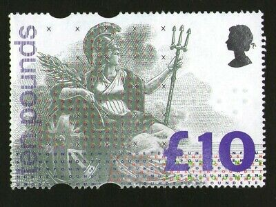 Unfranked Unmounted 1993 £10 Stamp, Sent 1st or 2nd Class