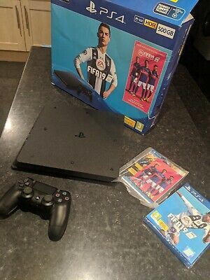 Sony PlayStation 4 500GB Console -  FIFA 2019 - Jet Black.Open Box. Never used.