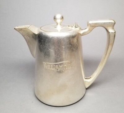 Vintage WILLIAM HILL (HOVE) LTD Creamer Mappin Webb's Sheffield Silver Plate