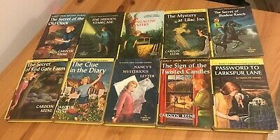 Nancy Drew Complete Yellow Matte Hardcover Book Set #1-55 & 3 Additional Books