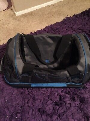 Ful 21' Hybrid Soft Rolling Duffel Carry On Bag Weekend Gray And Blue Trim Euc