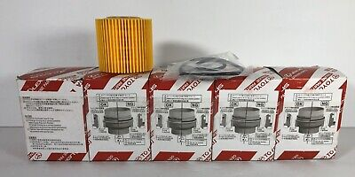Toyota Genuine Parts 04152-YZZA4 Replaceable Oil Filter Element 1//2 Case QTY 5