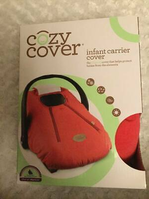 Baby COZY COVER INFANT CARRIER Cover Red Fleece Lining Weatherproof Dual Zippers
