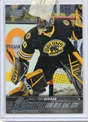 Malcolm Subban #211 2015-16 Upper Deck YG RC Young Guns Rookie