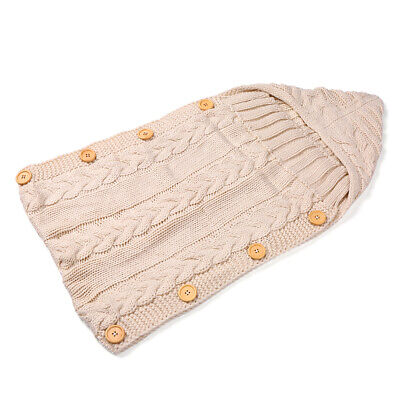 Infant Swaddle Blankets Soft Thick Breathable Knit Stroller Wraps Sleeping N8L1