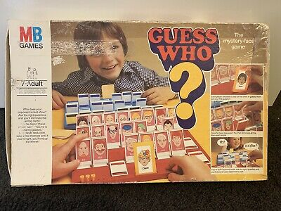 Guess Who Board Game Vintage 1980 Edition