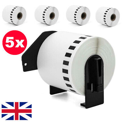 5x Brother Replacement DK22205 Continuous Printer Label 62mm Roll 4 QL550 560 57