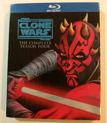 Star Wars The Clone Wars The Complete Season Four 4, Blu Ray Set, SLIPCOVER