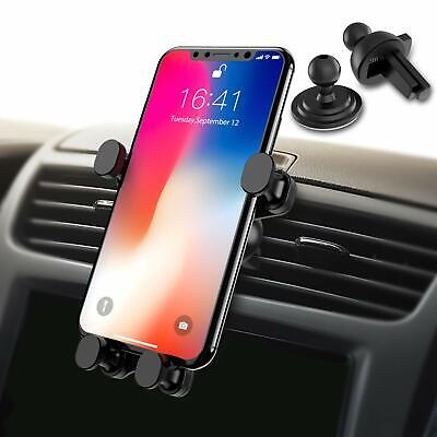 Car Phone Holder- Gravity Linkage-Auto Lock 360° Rotation,Universal Air Vent