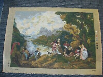 L'embarquement pour Cythere Voyage Cythera Painting Watteau Tapestry Canvas Art