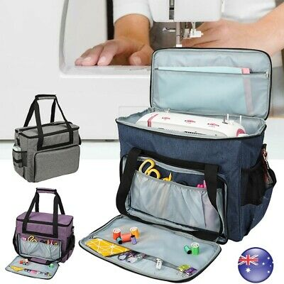 Waterproof Sewing Machine Bag Dust Cover & 3 Pockets Storage Carry Bag Portable