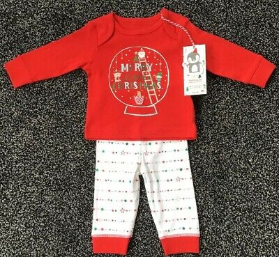 Mothercare Baby Girls Christmas Pyjamas Age Up To 3 Months New With Tags