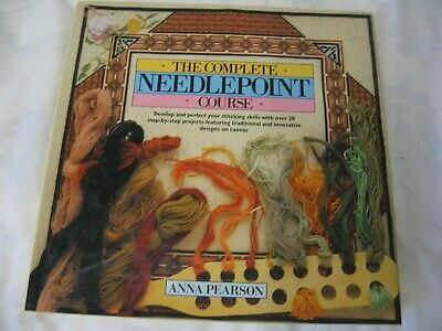 The Complete Needlepoint Course Pearson Book Counted canvas embroidery projects