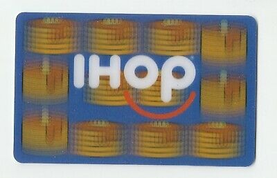 IHOP collectible gift card no value mint #03 Stacks of Pancakes