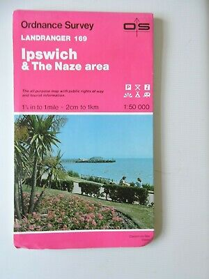 Ordnance Survey Landranger 169 Ipswich & The Naze Area.