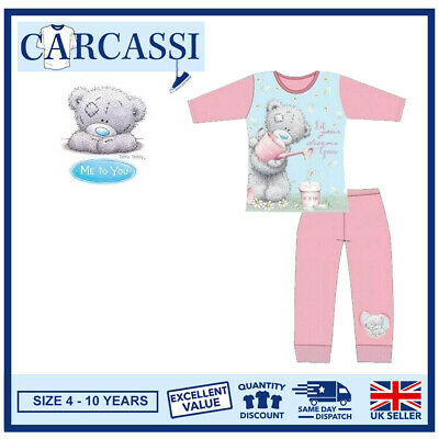 Me To You Tatty Teddy Pyjamas Childrens Kids Girls Pink PJs Age 4-10 Years