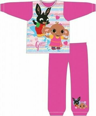 Bing Pyjamas Childrens Kids Girls Pink PJs Age 18 Months -5 Years