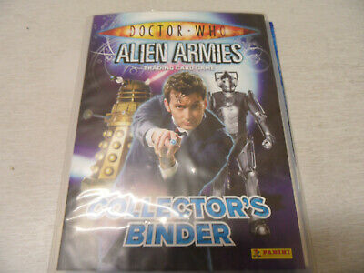 Dr Who Alien Armies Trading Card Game Collectors Binder With 215 Cards