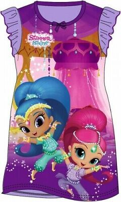 Shimmer and Shine Childrens Kids Girls PJs Nightdress Nightie Age 2-8 Years