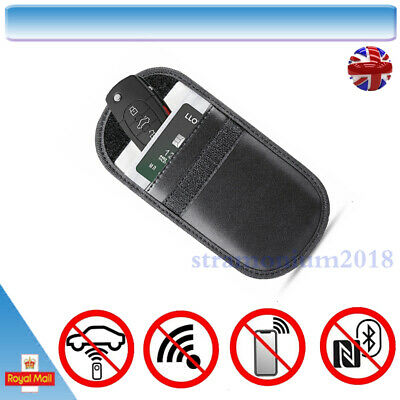 Car Key Signal Blocker Faraday Cage Fob Pouch Keyless RFID Blocking Bag Case *1