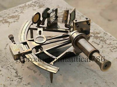 8'' Working Nautical Maritime Brass Big Sextant Antiques Marine Captain Set of 2