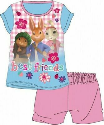 Peter Rabbit Pyjamas Childrens Kids Girls Pink Short PJs Age 18 Months-5 Years
