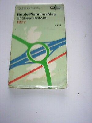 Ordnance Survey Route Planning Map Of Great Britain 1977