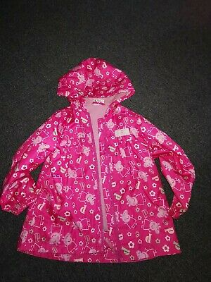 Peppa pig lined pink coat age 3-4 mothercare