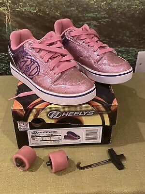 Heeleys Pink Glitter Size UK 1 Immaculate Complete