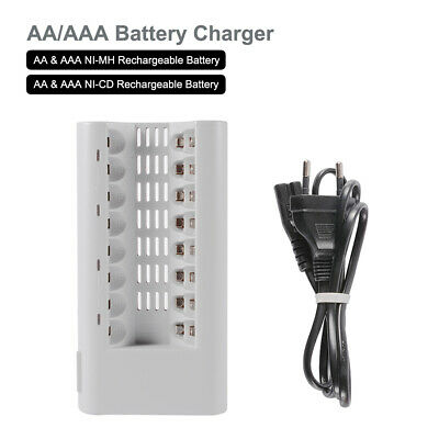 Chargeur Rapide Intelligent pour Batterie Rechargeable AA AAA Ni MH Cd BC854