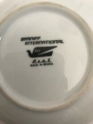 """Vintage Braniff airlines Small Black Saucer 5""""  Plate  Rare"""