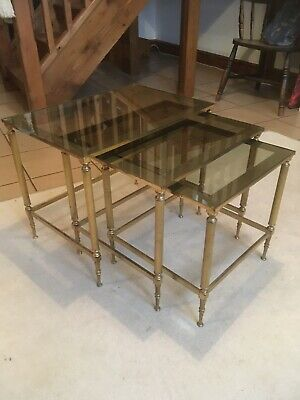 A Superb Quality Midcentury Hollywood Regency Nest Of Tables