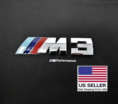 M3 Badge Decal Trunk Emblem Logo Metal M-Power fits BMW M 3