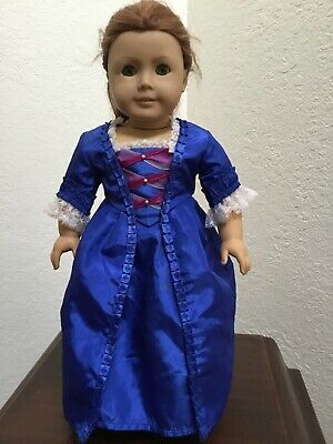 American Girl Doll Pleasant Company Felicity Doll blue ball gown