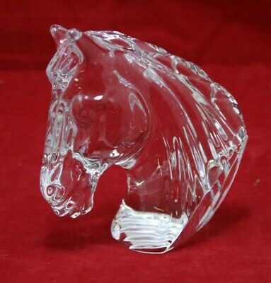 Waterford Crystal Horse Head Stallion Figurine / Paperweight - E2